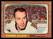 1966 67 TOPPS HOCKEY 59 PIERRE PILOTE EX COND CHICAGO BLACK HAWKS FREE SHIP USA