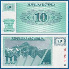 SLOWENIEN / SLOVENIA 10 Tolarjev 1990  UNC  P.4