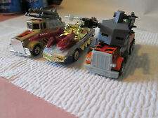 Matchbox Roadblasters Thunder Runner Kenworth Barrel Bomber Peterbilt Toe Nailer