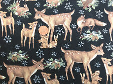 OLD WORLD WOODLAND WINTER 100% COTTON FABRIC FAT QUARTER
