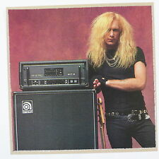 POP-CARD feat. BILLY SHEEHAN  / AMPEG ADVERT , 15x15cm greeting card aav