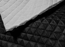 """Black Suede Quilted Auto Headliner Headboard Fabric with 3/8"""" Foam Back fabric"""