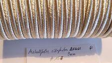 Soutache silberfarben Metallfolie 9mm 1 Meter neu (#157-)