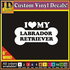 "6"" I Love my Labrador Retriever Luv Dog Pet car window truck vinyl decal Sticker"