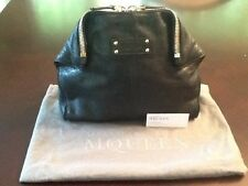Alexander McQueen De Manta Cosmetic Case Color Black Leather Small