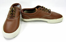 Polo Ralph Lauren Shoes Vaughn Athletic Leather Brown Sneakers Size 7.5 EUR 40.5