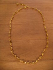 "GOLD TONE NECKLACE W/ TINY BALLS – ADJ. FROM 16 1/4"" TO 18"""