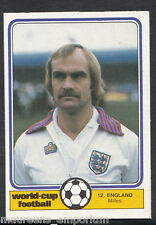 (ZZ) Monty Gum World Cup 1982 Football Card No 12 - Mick Miles - England