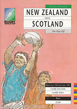 NEW ZEALAND v SCOTLAND (Rugby World Cup 3rd/4th PPO 30.10.1991) Programme (1)