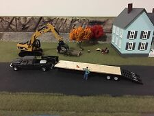 HO scale 1/87 custom built goose neck trailer hand painted