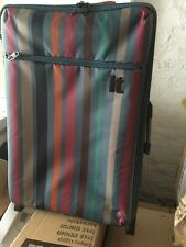 It Luggage World's Lightest 2-Wheel Medium Multi Blue Violet Stripe Suitcase