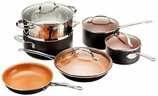 Gotham Steel 10-Piece Kitchen Nonstick Frying Pan and Cookware Set {1129} NEW
