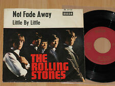 """7"""" THE ROLLING STONES - NOT FADE AWAY / LITTLE BY LITTLE - DECCA DL 25133 - 1964"""