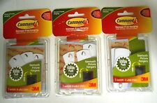 LOT OF 3 - 3M Command Sawtooth Picture-Hanging Hooks  3-Hangers EACH - EW 29C