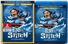 DISNEY LILO & STITCH 1 & 2 BLU RAY + SLIPCOVER SLEEVE 2 MOVIE COLLECTION BUY IT