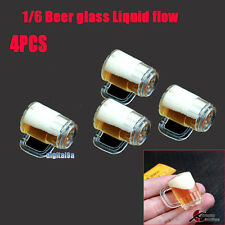 4PCS HOT FIGURE TOY 1/6 Beer glass Scene accessory necessary Liquid flow