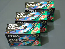 9 x Brand New TDK CDing 2 Type II Chrome 90 Min Blank Audio Cassette Tapes
