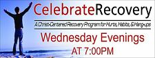 3' x 8' 13oz Vinyl Banner CELEBRATE RECOVERY Customized with your information