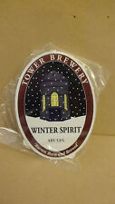 Tower Brewery Ale Beer Pump Clip Pub Collectible NEW with Clip & Taste Note