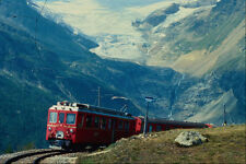 543017 Tirano StMoritz Train At Alp Grum Switzerland A4 Photo Print
