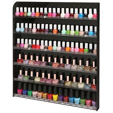 102 Bottle Wall Mounted Salon Style Nail Polish Rack Storage Display Organizer