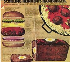 1979 Hamburger Recipe Food Foodie Chef Cook Article Meat Loaf Egg Cut Out 1 Page