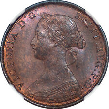 Great Britain 1861 Victoria Half Penny NGC MS-65 RB LCW Signature on the Rock!!