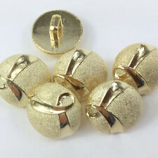 Small round gold buttons 14mm pretty decoration for craft, clothing per 5 button