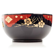 Black Lacquer Japanese Noodle Bowl