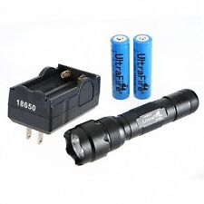 US 1000 LM WF-502B CREE XM-L T6 5-Mode LED Flashlight Torch + Batteries&Charger