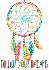 "Dimensions Counted Cross Stitch Kit 5"" x 7"" ~ DREAMCATCHER #70-65158 Sale"