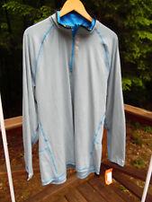 NWT Hind Mens XXL 2XL Blue Gray 1/2 Zip Running Shirt Jacket $44