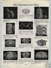 1940 PAPER AD Glasbake Heat Resistant Oven Glass Tea Kettle Coffee Pot Boiler