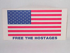 1979 FREE THE HOSTAGES STICKER 3x6 MADE SCRANTON PA