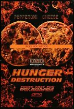 Original AMC HUNGER DESTRUCTION DS Theatre Poster GREAT FOR A HOME THEATER
