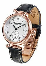 NEW Ingersoll IN1313RSL Womens Santa Monica Automatic Black Band Rose Gold Watch