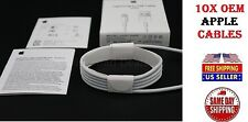 10x OEM Authentic Original Apple iPhone 7 6s 5s Charger Lightning USB Data Cable