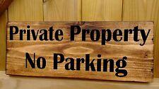 Pas de parking propriété privée plaque signes en bois massif avertissement de sécurité residentil