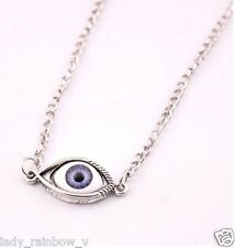 Fashion Silver Blue Eyeball Pendant Long Sweater Necklace Lovely Style Item Cool