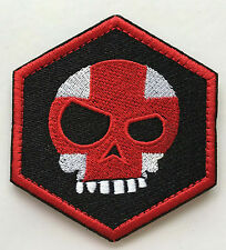 MEAN DEATH T-SKULL HEX USA ARMY TACTICAL MORALE EMBROIDERED   PATCH sk  435