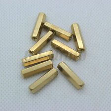 20PCS M3x17mm Hexagon Brass Female Spacer Nut Screw Standoff For PCB Mounting