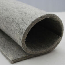 100% Wool Felt Fabric - 5mm - Made in Europe Natural Light Grey 92cm x 0.5 Metre