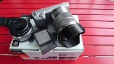 Sony NEX 5N mirrorless camera with duel lenses of 16mm and 18-55mm