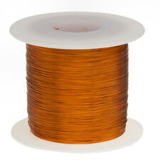 "38 AWG Gauge Enameled Copper Magnet Wire 1.0 lbs 19952' Length 0.0044"" 200C Nat"