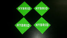 HYBRID CAR VEHICLE REFLECTIVE NUMBER PLATE STICKERS LABELS X 4 ELECTRIC / PETROL