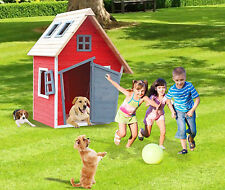 Childrens Indoor Outdoor Cottage Toy Play House Garden Fun Kids Playhouse Wooden