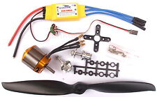 Large .25 Size Brushless Outrunner Motor + 60A ESC + Prop Kit - Combo UK 1185kV