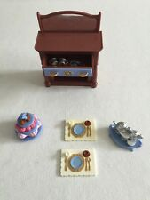 Dining Room Buffet Hutch Doll  Fisher Price Loving Family Dollhouse Tray Dishes