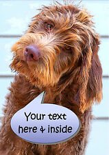 PERSONALISED LABRADOODLE DOG FATHERS DAY ANY OCCASION CARD Illustrated Insert