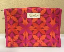NEW Clinique Pink & Orange Cosmetic Makeup Bag [Tracy Reese Edition]
